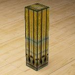 Verde y tubos de órgano del oro cajas para vino