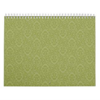 Verdes barrocos del modelo calendarios de pared