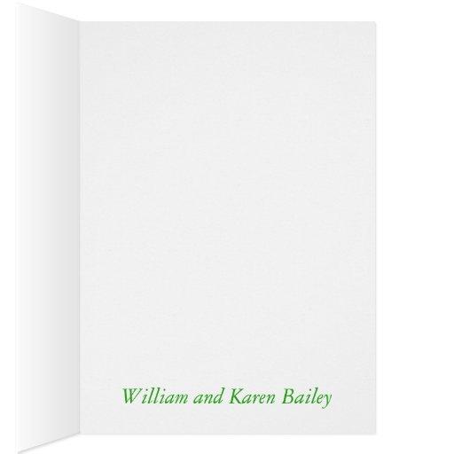 Verdes de encargo y el blanco le agradecen cardar  felicitación