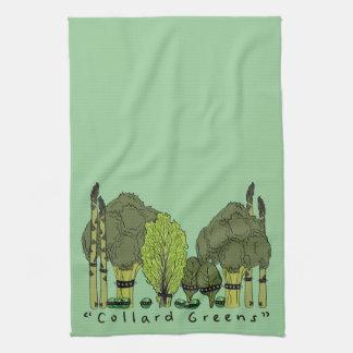 Verdes de la col com n del núcleo duro toallas de mano