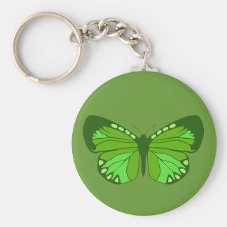 Verdes de la mariposa llaveros personalizados