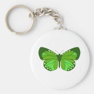 Verdes de la mariposa llaveros