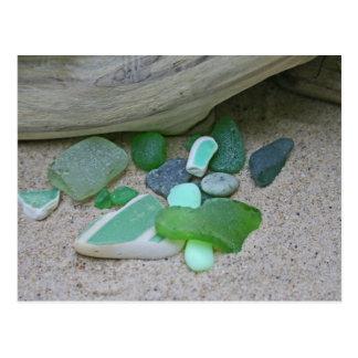 Verdes de la playa postales