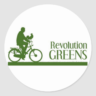 Verdes de la revolución pegatina redonda