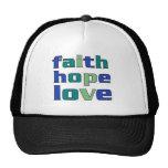 Verdes del amor de la esperanza de la fe gorro