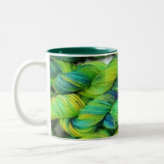 Verdes del hilado de ColourSpun Handyed Taza De Café