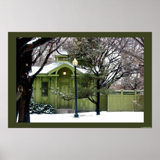 Verdes del jardín público impresiones