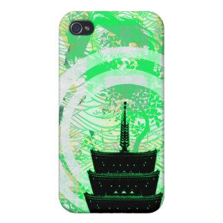 Verdes del templo iPhone 4 carcasa