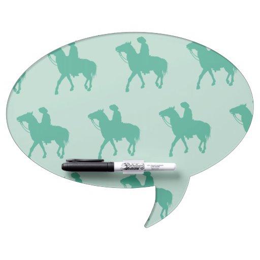 Verdes del vaquero pizarras blancas