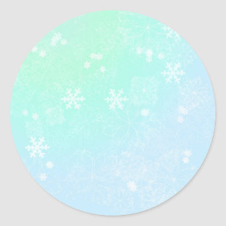 Verdes en colores pastel del navidad pegatina redonda