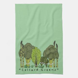 Verdes formales de la col com n toallas