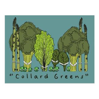 Verdes formales de la col com n tarjeta postal
