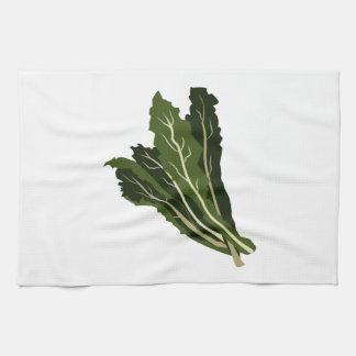 Verdes frondosos toalla de cocina