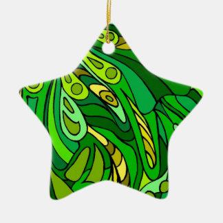 Verdes ocho ornamento de navidad