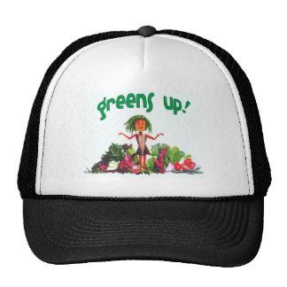 ¡Verdes para arriba! gorra del camionero del incon