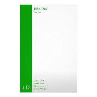 verdes profesionales papelería de diseño