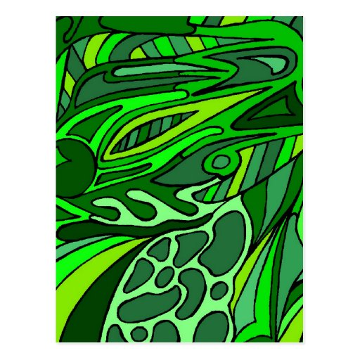 Verdes siete tarjetas postales