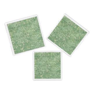 Verdes texturizados bandeja cuadrada