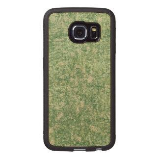 Verdes texturizados funda de madera para samsung galaxy s6 edge