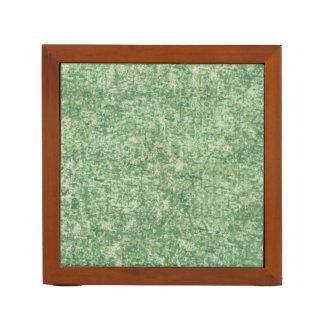 Verdes texturizados organizador de escritorio
