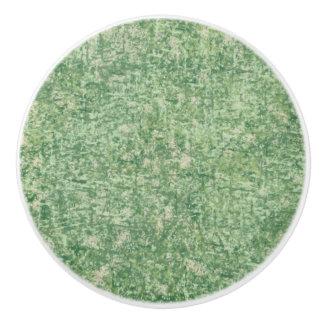 Verdes texturizados pomo de cerámica