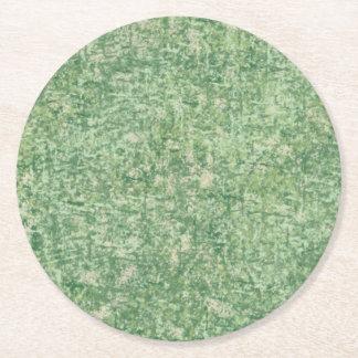 Verdes texturizados posavasos personalizable redondo