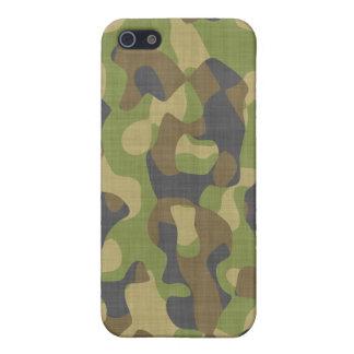 Verdes y marrones de Camo iPhone 5 Funda