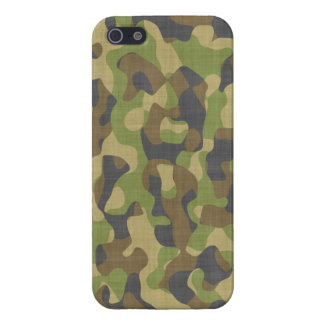 Verdes y marrones de Camo iPhone 5 Cobertura