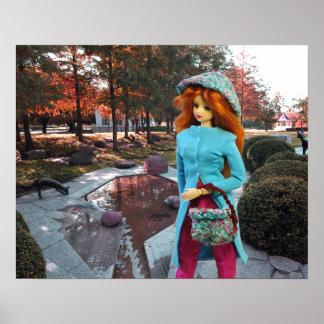 Verdi - Autumn Pool Garden, Sam Houston Park Poster