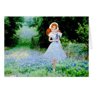 Verdi, Bluebonnets en el país de la colina de Tarjeta De Felicitación