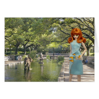 Verdi, Houston Zoo Entrance Greeting Card