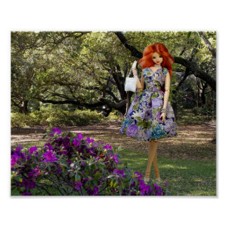 Verdi & Houston Zoo Florals Poster