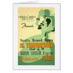 Verdi Il Trovatore 1937 WPA Card
