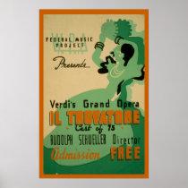 Verdi Il Trovatore Vintage 1937 WPA Poster
