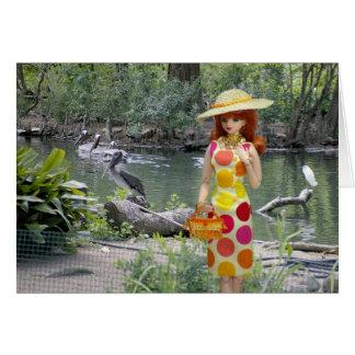 Verdi, pelícanos en el parque zoológico de Houston Tarjeta De Felicitación