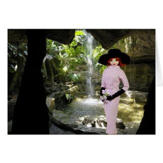 Verdi - traje rosado, museo de la mariposa de tarjeta de felicitación