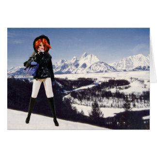 Verdi visita el parque nacional magnífico de Teton Tarjeta De Felicitación