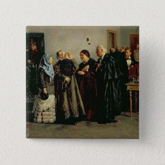 Verdict, 'Not Guilty', 1882 Pinback Button