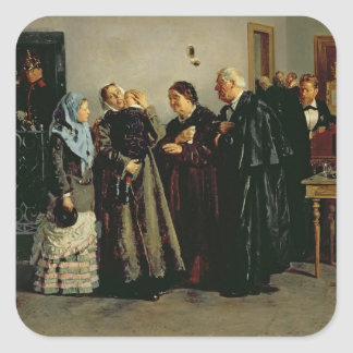 Verdict, 'Not Guilty', 1882 Square Sticker