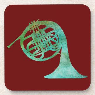 Verdigras French Horn Coaster
