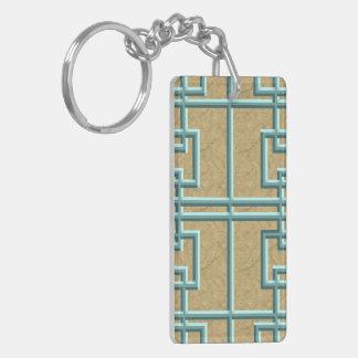 Verdigris Knotwork Acrylic Keychain