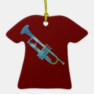 Verdigris Trumpet Christmas Ornament