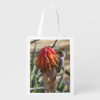 Verdin on Aloe Blossom Reusable Grocery Bag