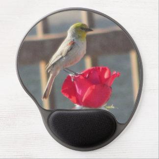 Verdin on Rose Gel Mouse Pad