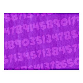 Verdi's background numbers - Purple Postcard