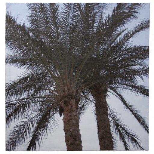 Verdor de palmeras servilletas imprimidas
