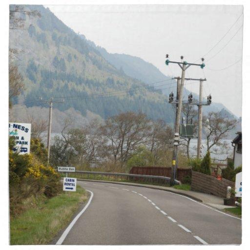 Verdor y camino al lado de Loch Ness Servilleta De Papel