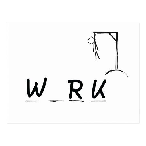 Verdugo con WRK Tarjeta Postal
