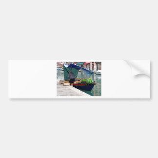 Verdulero flotante en Venecia Pegatina Para Auto