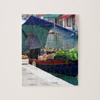 Verdulero flotante en Venecia Rompecabezas Con Fotos